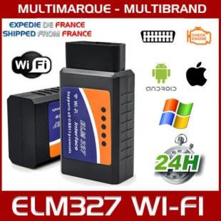 ELM327 WiFi OBDII ODB2 OBD INTERFACE DIAGNOSTIQUE SCANNER IOS ANDROID WINDOWS
