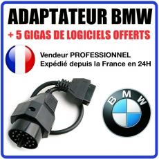 ADAPTATEUR OBDI 20 BROCHES VERS 16 POUR BMW E30 E34 E36 E46 E39 - CONNECTEUR BMW