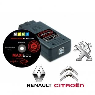 MaxiECU 2 spécial Peugeot Citroen et Renault