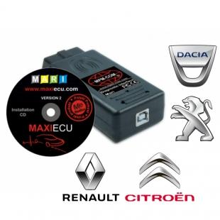 MaxiECU 2 spécial Peugeot Citroen Renault et Dacia