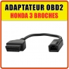 Adaptateur Professionnel OBD2 compatible Honda 3 broches pour MULTIDIAG