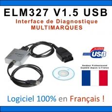 Valise Diagnostic Auto Français ELM PRO similaire MULTIDIAG DIAGBOX CANCLIP