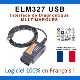 Interface Diagnostic ELM327 USB Français - ELM 327 MAXISCAN MULTIMARQUE